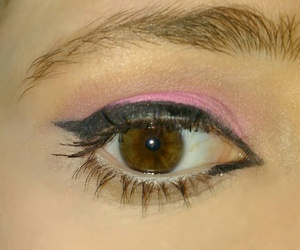 beauty, cateye, and eyeliner image
