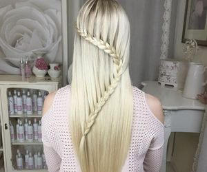 braid, hair, and fashion image