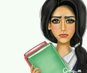 girly_m, book, and drawing image