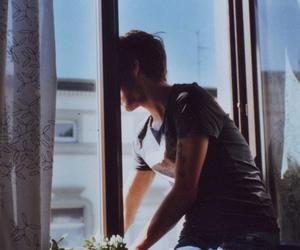 boy, window, and vintage image
