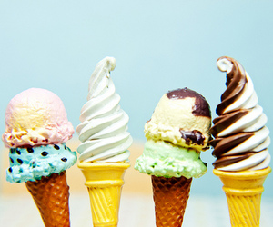 ice cream, summer, and food image