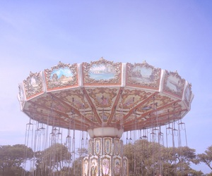 carousel, vintage, and aesthetic image