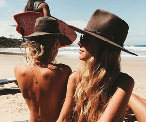 beach, bikini, and boho image