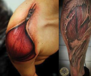 anatomy, muscle, and tattoo image