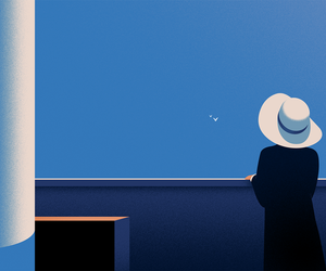 blue, minimalism, and aesthetics image