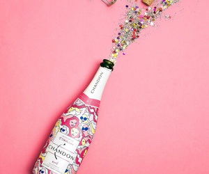 champagne, pink, and glitter image