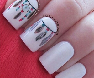 nails, white, and dream catcher image