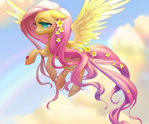fluttershy, my little pony, and pony image