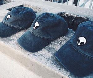 alien, cap, and grunge image