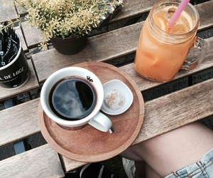 best friend, cafe, and coffee image