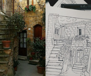 architecture, art, and sketchy image