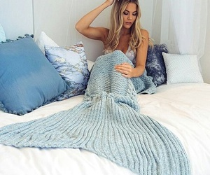 mermaid and blue image