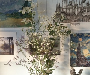 art, flower, and hogwarts image