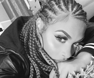 braids, makeup, and style image