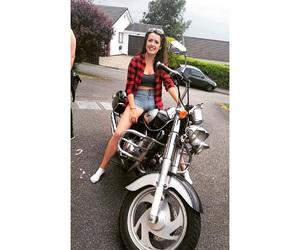 biker, Chick, and ireland image