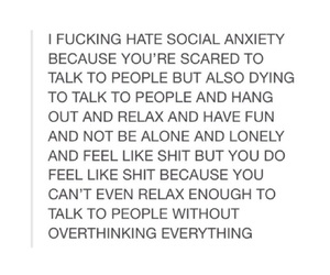 quotes, social anxiety, and anxiety image