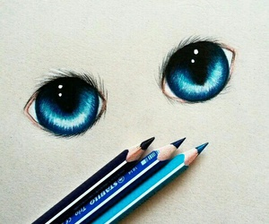 art, drawing, and eyes image