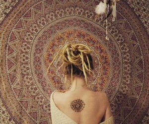 hippie, girl, and tattoo image