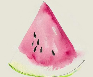 art, fruit, and watermelon image
