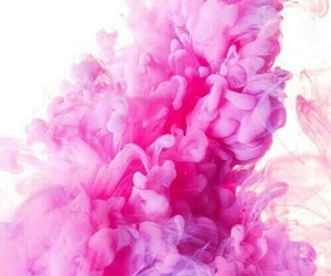 pink, wallpaper, and smoke image