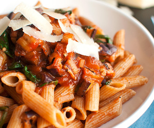 eggplant, spinach, and pasta image