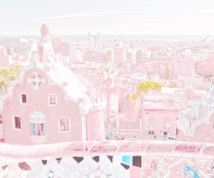 pastel, pink, and village image