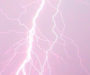 pink, lightning, and pale image
