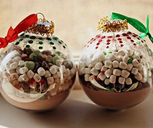 ornaments for christmas and christmas delicious food image