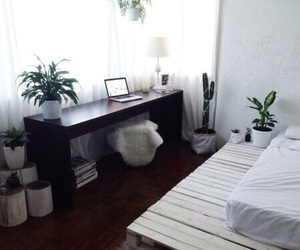 plants, bedroom, and interior image