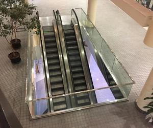 aesthetic, pastel, and escalator image
