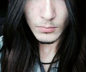 long hair, metalhead, and boy image
