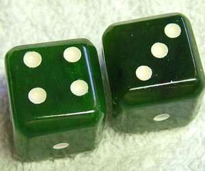 dice, green, and jade image