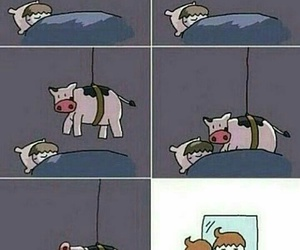 bad, cow, and funny image