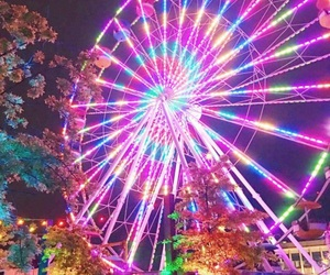 bright, ferris wheel, and color image