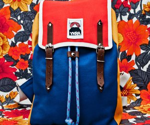 backpack, bag, and retro image