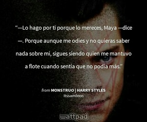 book, monstruo, and frase image