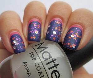 matte, nail art, and nails image