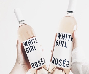 drink, rose, and wine image