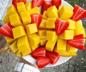 fruit, strawberry, and mango image