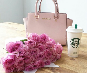 bag, flower, and luxury image