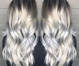 hair, blonde, and silver image