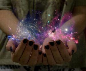 galaxia, magia, and fantasía image
