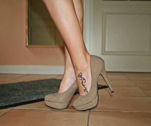 brown, Tattoos, and shoes image