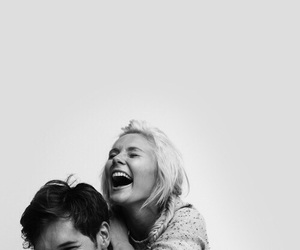 cover, happiness, and laughing image