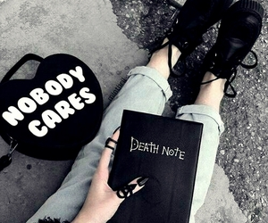 black, death note, and grunge image