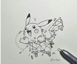 pikachu, geometric, and pokemon image
