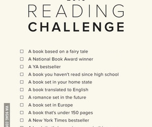 book, reading, and challenge image