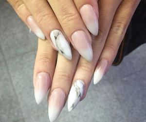 acrylics, nail polish, and ombre nails image