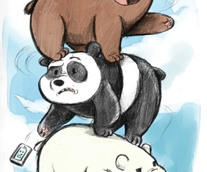 we bare bears, panda, and drawing image