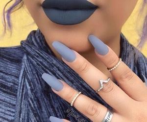 nails, lips, and rings image